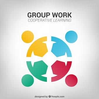 Logo de trabajo en grupo