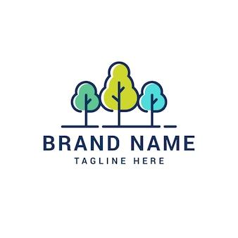 Logo de triple arbol