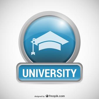 Logo de universidad con birrete