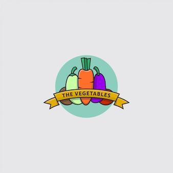 Logo de varios tipos de verduras
