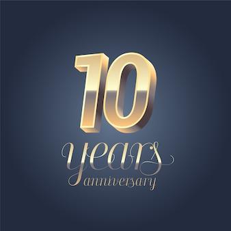 Logo de vector de 10 aniversario