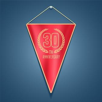 Logo de vector de aniversario de 30 años
