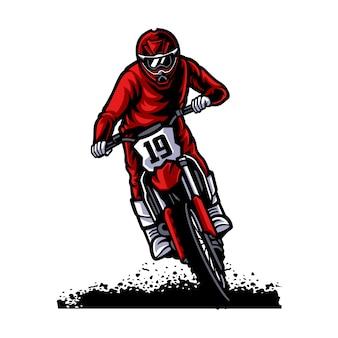 Logo de vector de motocross, estilo libre de motocross