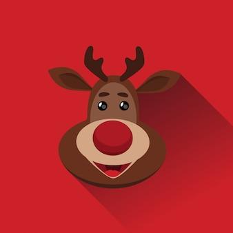 Logo de venado de navidad