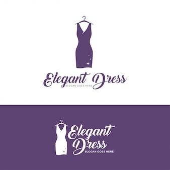Logo de vestido elegante