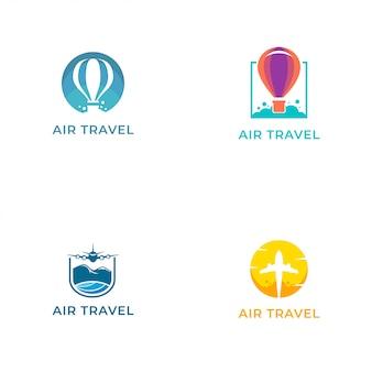 Logo de viajes aéreos vector plantilla de diseño