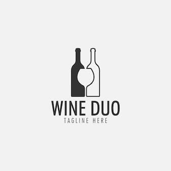 Logo de vino duo
