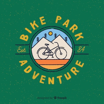 Logo vintage de aventura