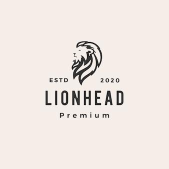 Logo vintage de cabeza de león