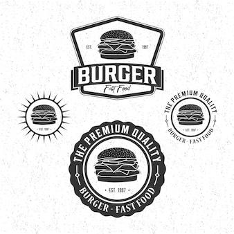Logo vintage de hamburguesa