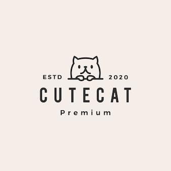 Logo vintage lindo gato