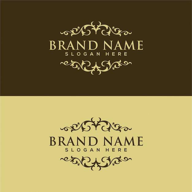 Logo vintage y de lujo