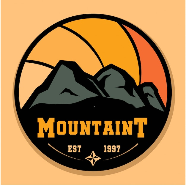 Logo vintage de montaña