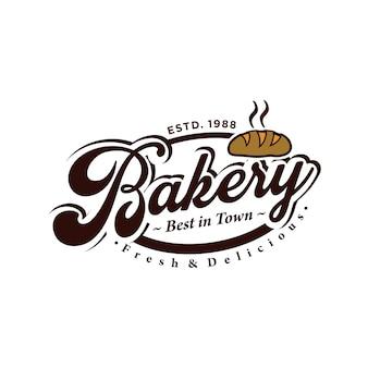 Logo vintage de panadería