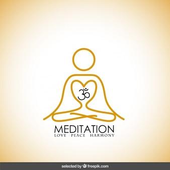 Logo de yoga abstracto