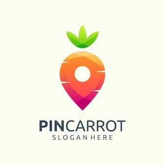 Logo de zanahoria pin