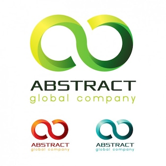 Logos abstractos en diferentes colores