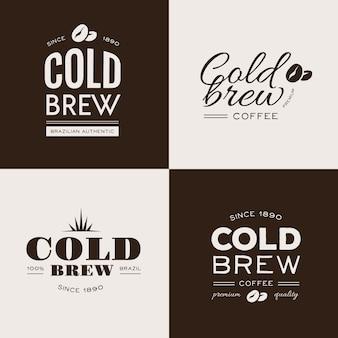 Logos de café frío