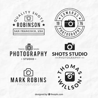 Logos de cámaras planas lineales