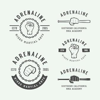 Logos del club de lucha, emblemas