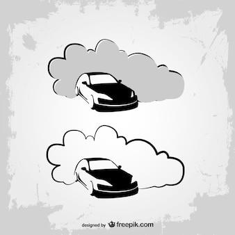 Logos de coches en blanco y negro