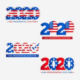 Logos de las elecciones presidenciales de ee. uu. 2020