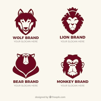 Logos fantásticos con animales