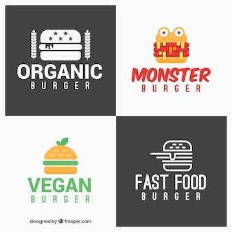 Logos modernos de hamburguersería