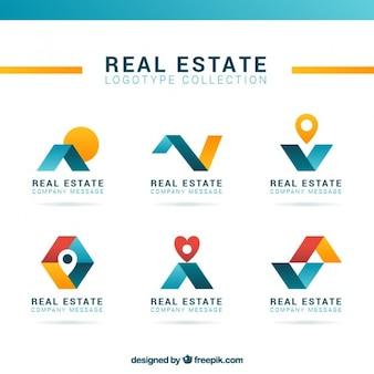 Logos modernos y abstractos de inmobiliaria