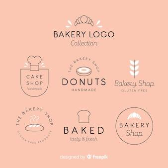 Logos de panadería en diseño plano