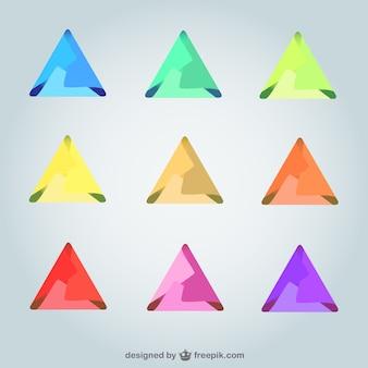Logos triangulares 3d