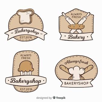 Logos vintage de panadería