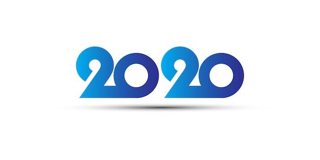 Logotipo 2020 degradado azul