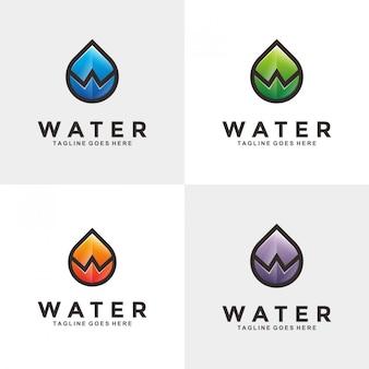 Logotipo abstracto de agua