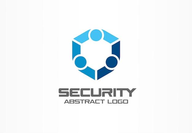 Logotipo abstracto para empresa comercial. elemento de identidad corporativa