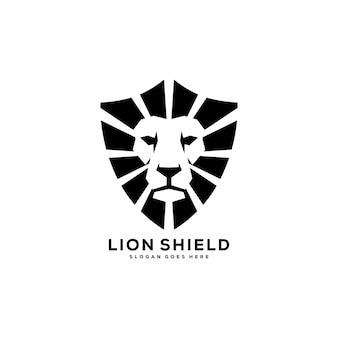Logotipo abstracto del escudo del rey león