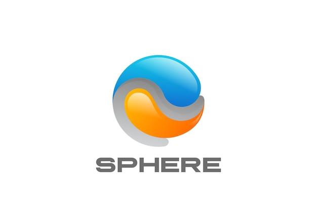 Logotipo abstracto de la esfera.