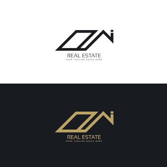 Logotipo abstracto de inmobiliaria