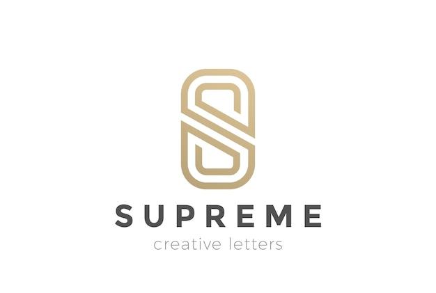 Logotipo abstracto de lujo de letra s