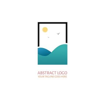 Logotipo abstracto del mar