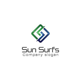 Logotipo abstracto y moderno de letra