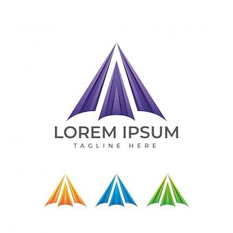 Logotipo abstracto moderno letra a