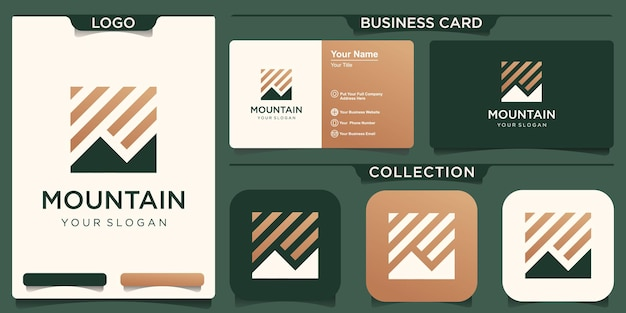 Logotipo abstracto de la montaña.