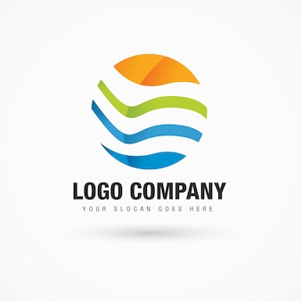 Logotipo abstracto para el verano