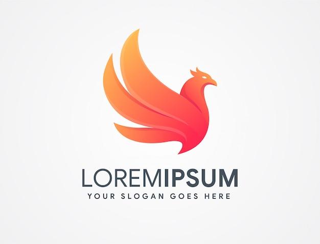 Logotipo abstracto de phoenix