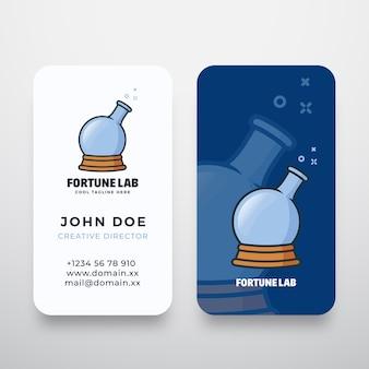 Logotipo abstracto y tarjeta de presentación de fortune lab