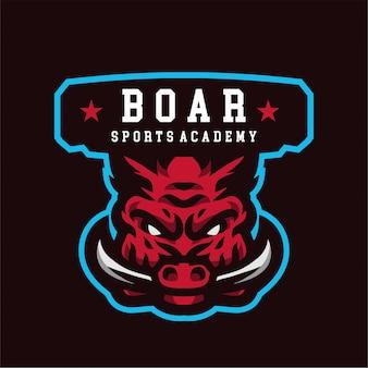 Logotipo de la academia deportiva de jabalí