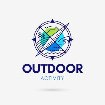 Logotipo de actividad al aire libre
