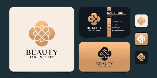 Logotipo de adorno de belleza creativa boutique