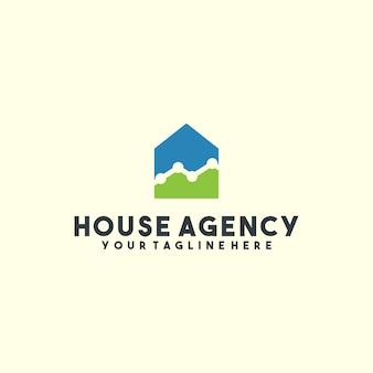 Logotipo de agencia de casa creativa